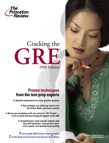 9780375766152: Cracking the GRE, 2008 Edition (Graduate School Test Preparation)