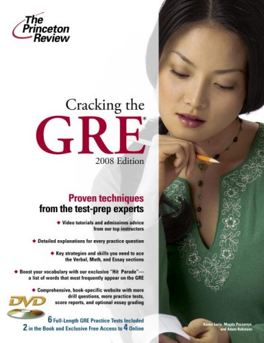 9780375766169: The Princeton Review Cracking the Gre 2008