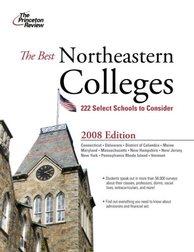 9780375766190: The Best Northeastern Colleges, 2008 Edition (College Admissions Guides)