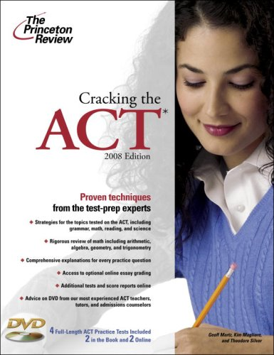 9780375766350: Cracking the ACT with DVD, 2008 Edition (College Test Preparation)
