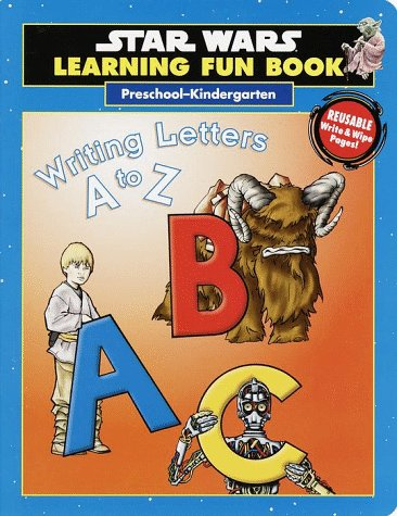9780375800061: Star Wars Learning Fun Book Writing Letters A to Z (Pre-K)