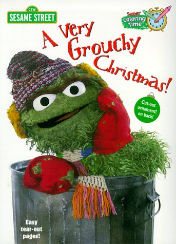 9780375806483: A Very Grouchy Christmas (Super Coloring Time)