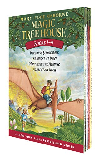 9780375813658: Magic Tree House Boxed Set, Books 1-4: Dinosaurs Before Dark, The Knight at Dawn, Mummies in the Morning, and Pirates Past Noon