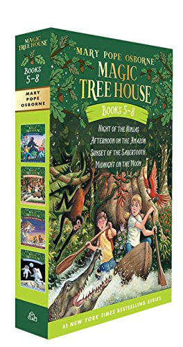 9780375822667: Magic Tree House Boxed Set, Books 5-8: Night of the Ninjas, Afternoon on the Amazon, Sunset of the Sabertooth, and Midnight on the Moon