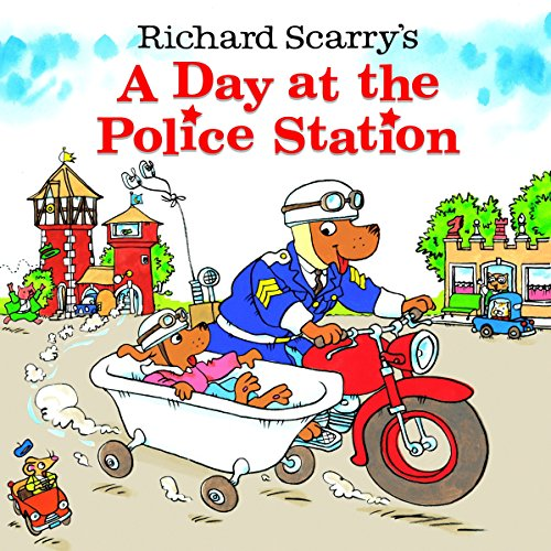 9780375828225: Richard Scarry's A Day at the Police Station (Look-Look)
