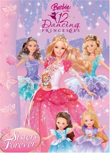 Sisters Forever: Barbie in the 12 Dancing Princesses (Deluxe Coloring Book): Golden Books