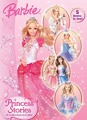 Princess Stories: A Collection to Color (Barbie) (Jumbo Coloring Book): Golden Books