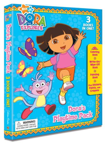 Doras Playtime Pack Dora The Explorer Tri Fold Coloring Book