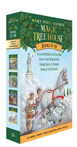 9780375846618: Magic Tree House Books 13-16: the Mystery of the Lost Libraries: Vacation Under the Volcano/Day of the Dragon King/Viking Ships at Sunrise/Hour of the Olympics