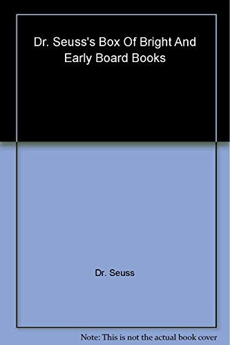 9780375859328: Dr. Seuss's Box Of Bright And Early Board Books