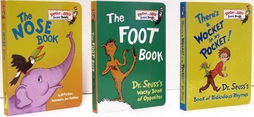 9780375862427: There's a Wocket in My Pocket / The Foot Book / The Nose Book - Pack D (Bright and Early Board Books
