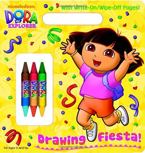 Drawing Fiesta! (Dora the Explorer) (Write-On/Wipe-Off Activity Book) (9780375871597) by Golden Books