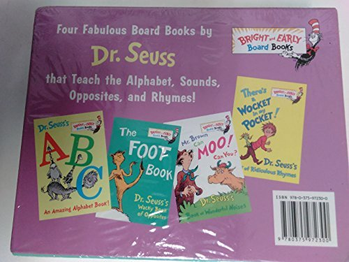 9780375972300: Dr Seuss's Box of Bright and Early Board Books