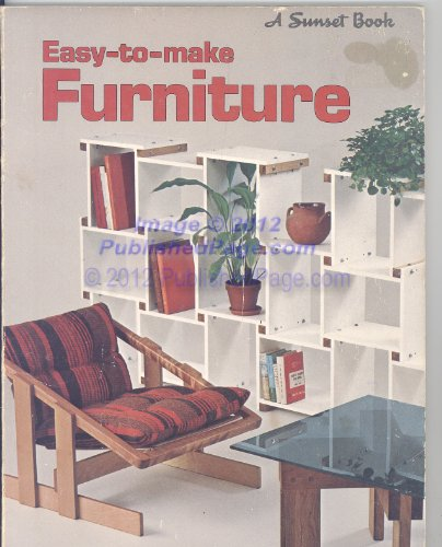 9780376011756: Easy-to-make Furniture (Sunset Book)