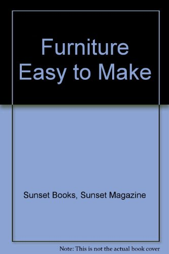 9780376011763: Furniture Easy to Make