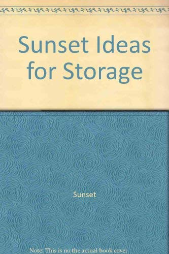 9780376015563: Sunset Ideas for Storage