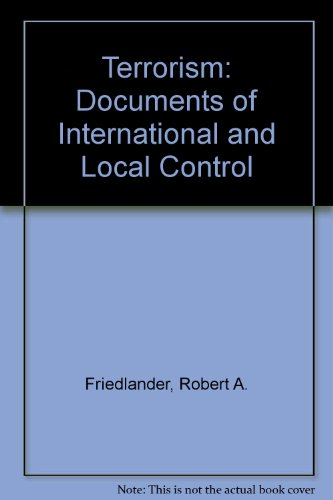 9780379006940: Terrorism: Documents of International and Local Control