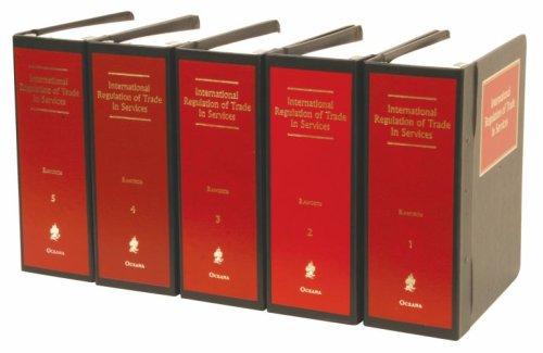 9780379008425: International Regulation of Trade in Services