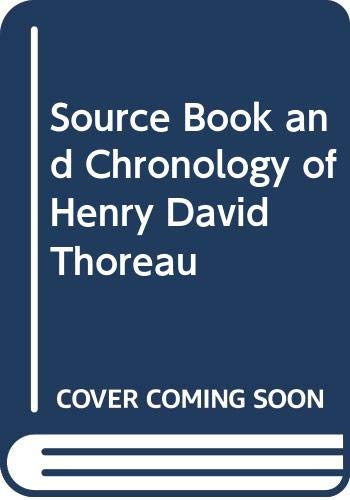 9780379010503: Source Book and Chronology of Henry David Thoreau