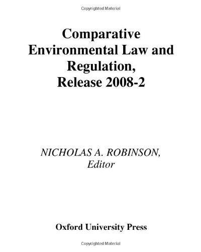 9780379012514: Comparative Environmental Law and Regulation