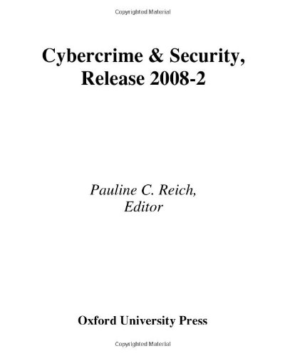 9780379012811: Cybercrime & Security