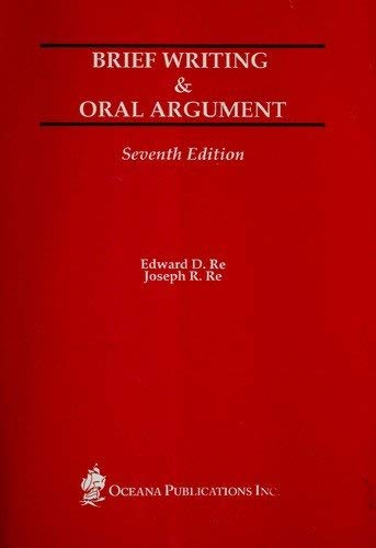 9780379204261: Brief Writing & Oral Argument - Seventh Edition
