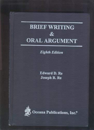 9780379204285: Brief Writing & Oral Argument