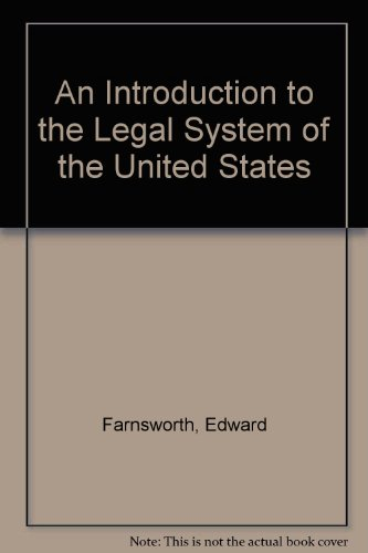 9780379207163: An Introduction to the Legal System of the United States