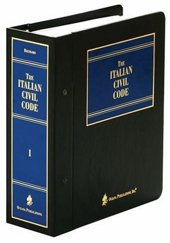 9780379209686: The Italian Civil Code and Complementary Legislation