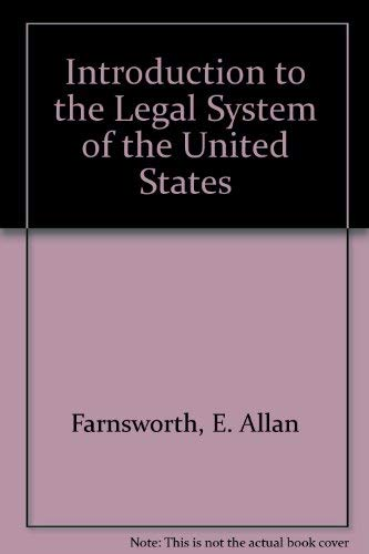 9780379213720: An Introduction to the Legal System of the United States