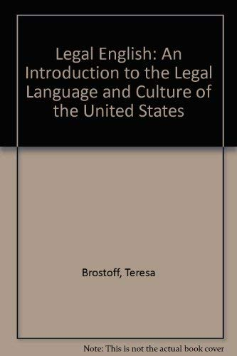 9780379214246: Legal English: An Introduction to the Legal Language and Culture of the United States