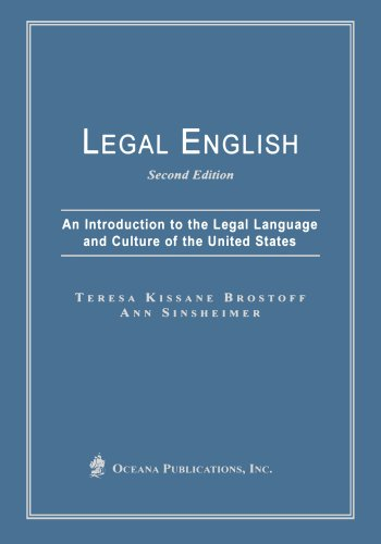 9780379215090: Legal English: An Introduction to the Legal Language and Culture of the United States