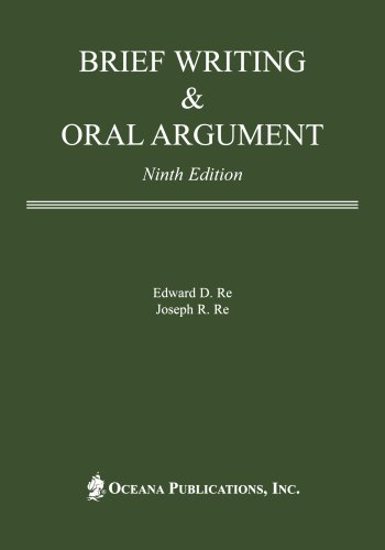9780379215335: Brief Writing and Oral Argument