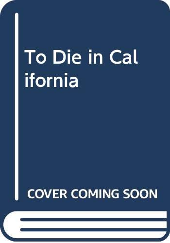 To Die in California (0380000016) by Newton Thornburg