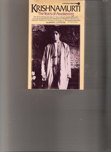 9780380007349: Krishnamurti: The Years of Awakening