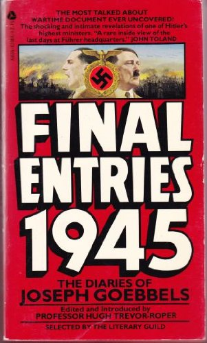 9780380424085: Final Entries 1945: The Diaries of Joseph Goebbels