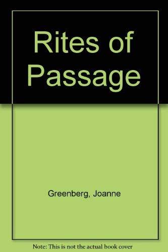 9780380520688: Rites of Passage