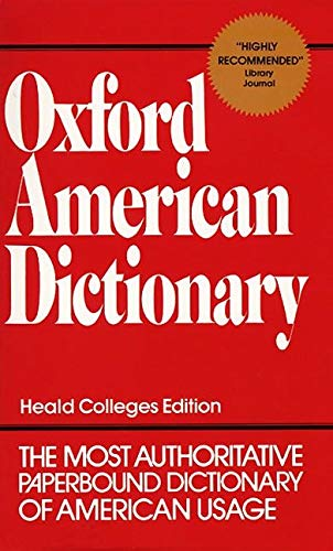 9780380607723: Oxford American Dictionary