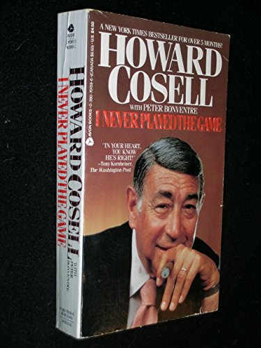 I Never Played the Game: Howard Cosell; Peter Bonventre