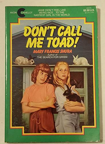 9780380704965: Don't Call Me Toad!