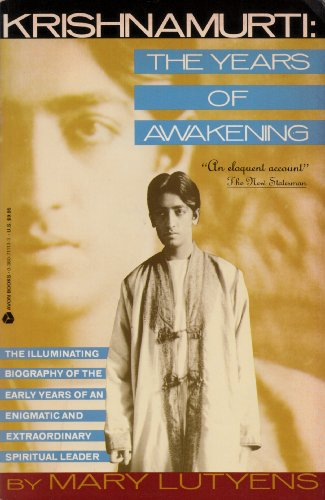 9780380711130: Krishnamurti: The Years of Awakening