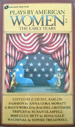 9780380766208: Plays by American Women: The Early Years