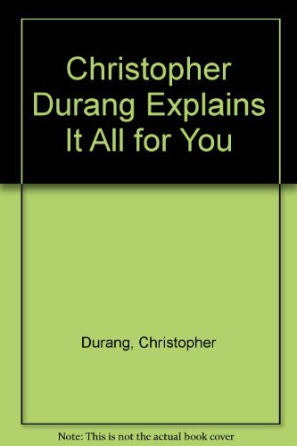 Christopher Durang Explains It All for You (9780380826360) by Christopher Durang