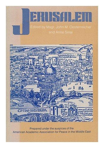 Jerusalem,: john oesterreicher