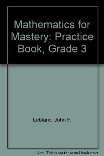 9780382016172: Mathematics for Mastery: Practice Book, Grade 3