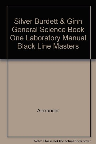 General Science, Book One: Laboratory Manual Blackline Masters With Answer Keys (1989 Copyright)