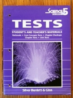 Science Horizons Tests: Student's and Teacher's Materials: staff