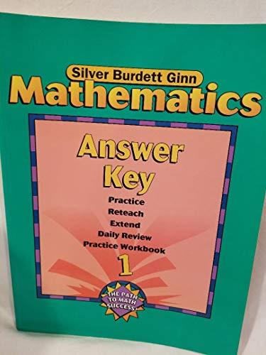 SBG MATH ANSWER KEY GR 1: SILVER BURDETT