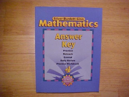Silver Burdett Ginn Mathematics, Answer Key, Book: None noted