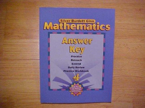 Silver Burdett Ginn Mathematics, Answer Key, Book: None noted